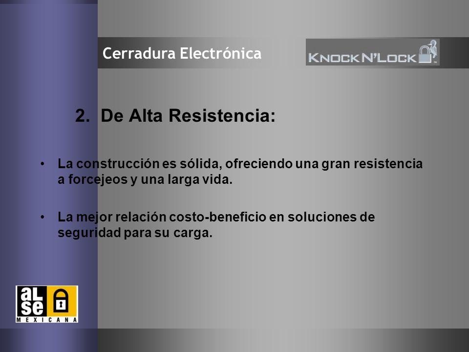 6 Cerradura Electrónica 2. De Alta Resistencia: La construcción es sólida, ofreciendo una gran resistencia a forcejeos y una larga vida. La mejor rela