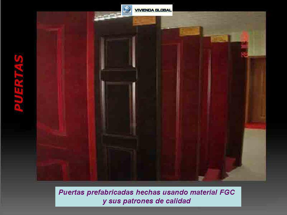 PUERTAS Puertas prefabricadas hechas usando material FGC y sus patrones de calidad