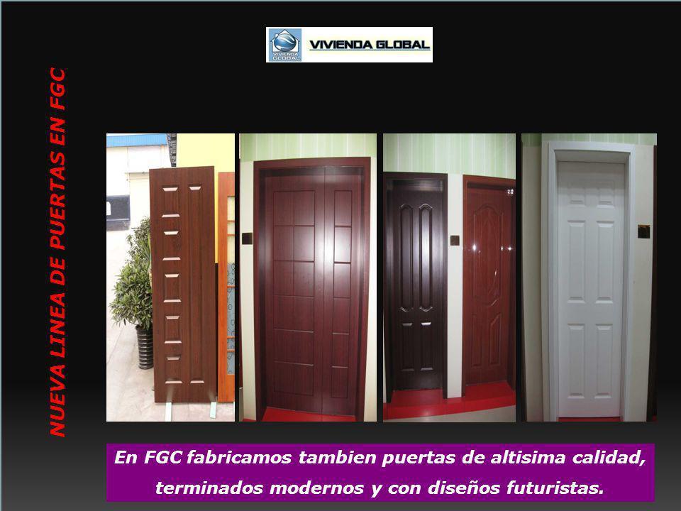 En FGC fabricamos tambien puertas de altisima calidad, terminados modernos y con diseños futuristas. NUEVA LINEA DE PUERTAS EN FGC