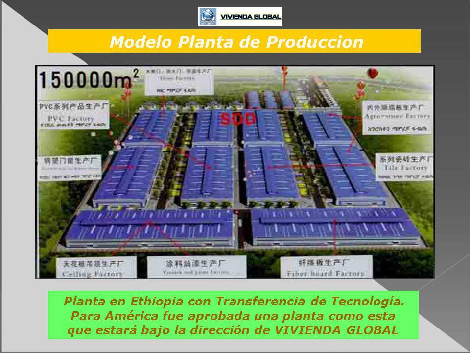 Planta en Ethiopia con Transferencia de Tecnología. Para América fue aprobada una planta como esta que estará bajo la dirección de VIVIENDA GLOBAL Mod