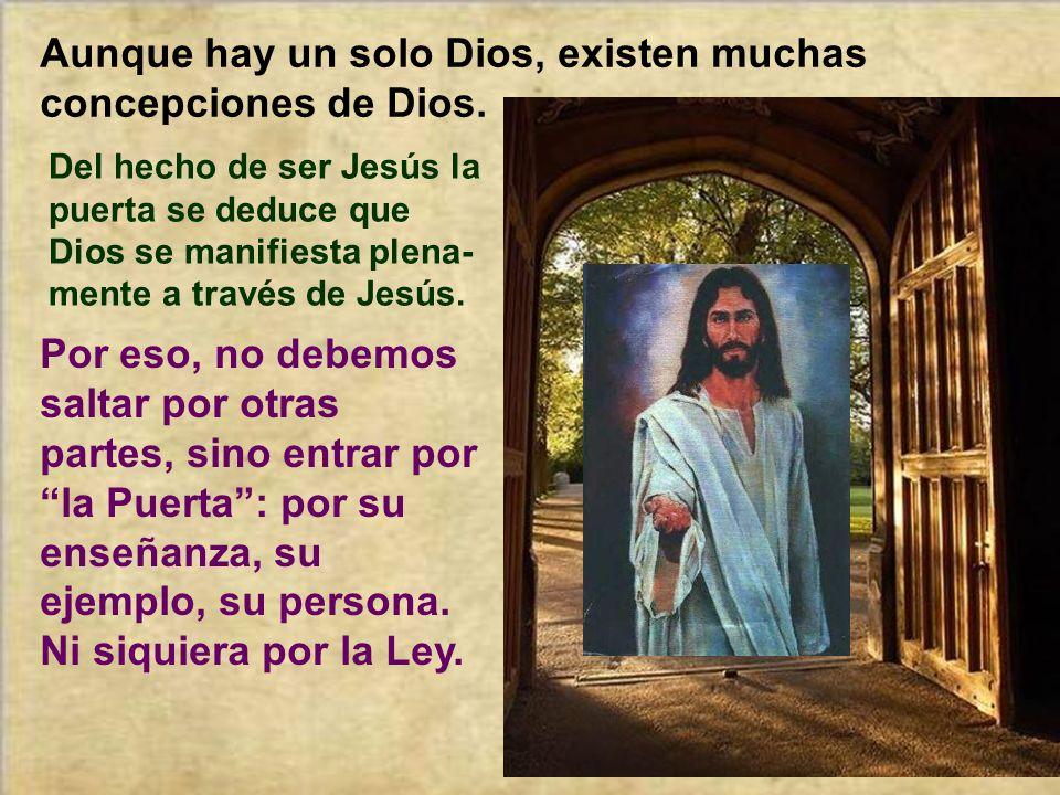 Lo característico de la primera parte de esta alegoría del Buen Pastor es que Jesús nos dice: Él es la entrada para ir al Padre. Es la mediación. El q