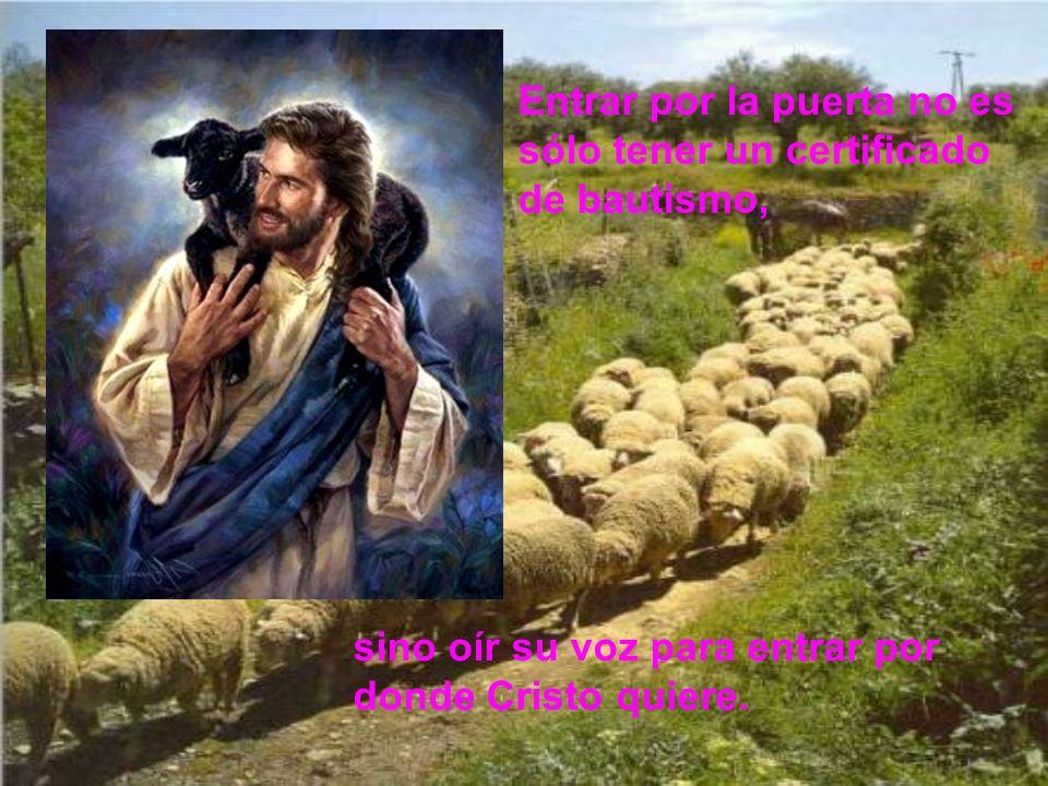 Aunque hay un solo Dios, existen muchas concepciones de Dios. Del hecho de ser Jesús la puerta se deduce que Dios se manifiesta plena- mente a través