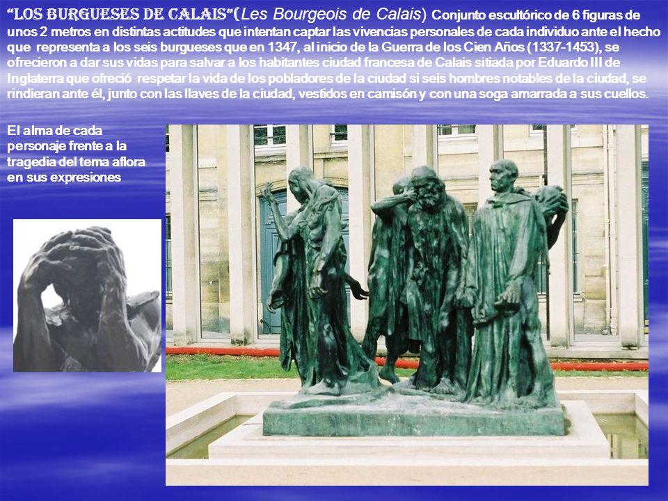 Este pequeño grupo figura en su origen en la Puerta del Infierno. Esta obra monumental -contaba con ciento ochenta y seis figuras- es para Rodin la oc