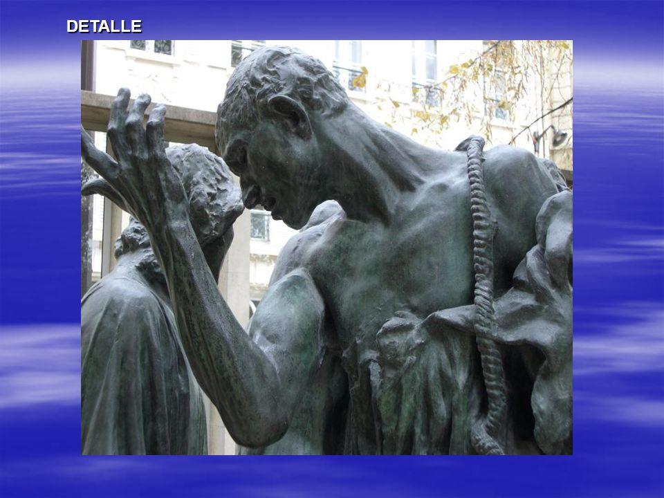 Los burgueses de Calais( Les Bourgeois de Calais) Conjunto escultórico de 6 figuras de unos 2 metros en distintas actitudes que intentan captar las vi