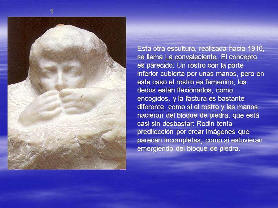 2 El adiós-2 (1906) La versión de mármol es posterior y pertenecía desde 1913 al Chrysler Museum of Art de Norfolk, que la donó al Rodin Museum en 196