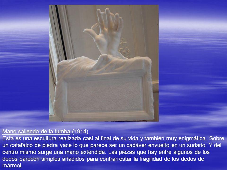 1 Esta otra escultura, realizada hacia 1910, se llama La convaleciente. El concepto es parecido: Un rostro con la parte inferior cubierta por unas man