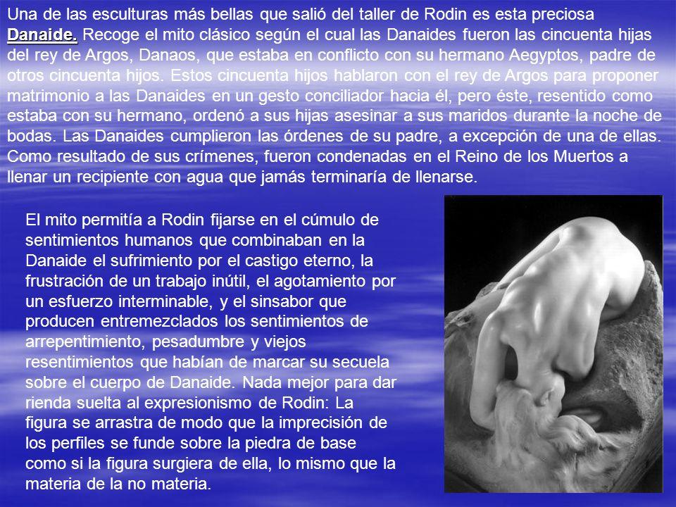 MONUMENTO A BALZAC Rodin busca una figura cuyo impulso se alce hasta el cielo. Diseña un símbolo casi abstracto de la potencia del novelista, utilizan