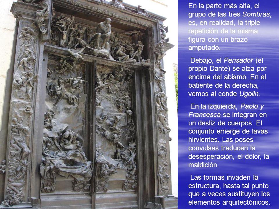 En 1880 el gobierno francés le encargó unas enormes puertas para el Museo de las Artes Decorativas de París. Rodin se inspirará en el Infierno de Dant