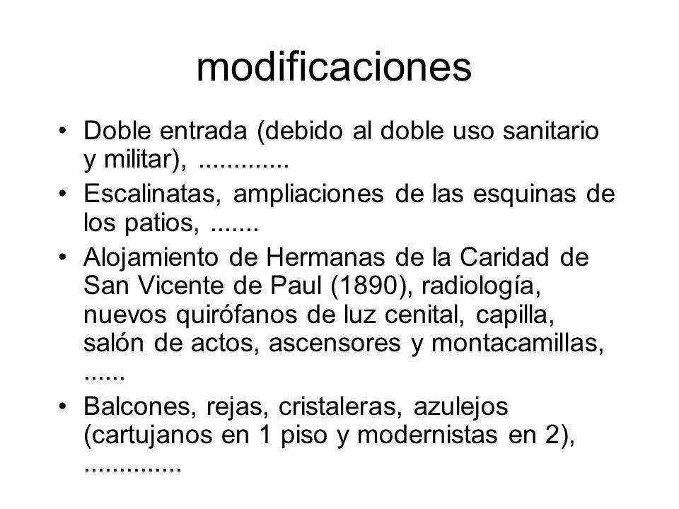 modificaciones Doble entrada (debido al doble uso sanitario y militar),.............