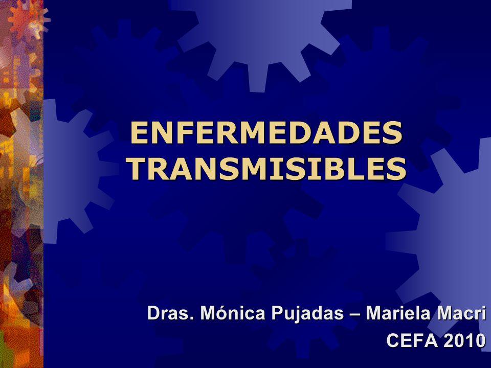ENFERMEDADES TRANSMISIBLES Dras. Mónica Pujadas – Mariela Macri CEFA 2010