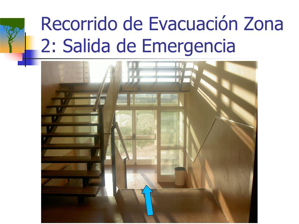 Recorrido de Evacuación Zona 2: Salida de Emergencia