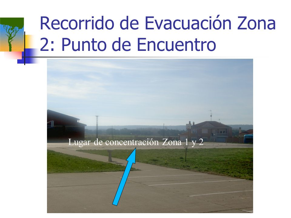 Recorrido de Evacuación Zona 2: Punto de Encuentro Lugar de concentración Zona 1 y 2