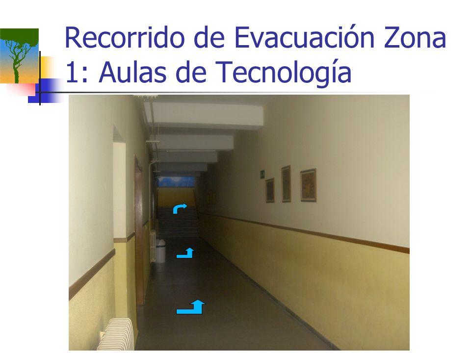 Recorrido de Evacuación Zona 1: Aulas de Tecnología