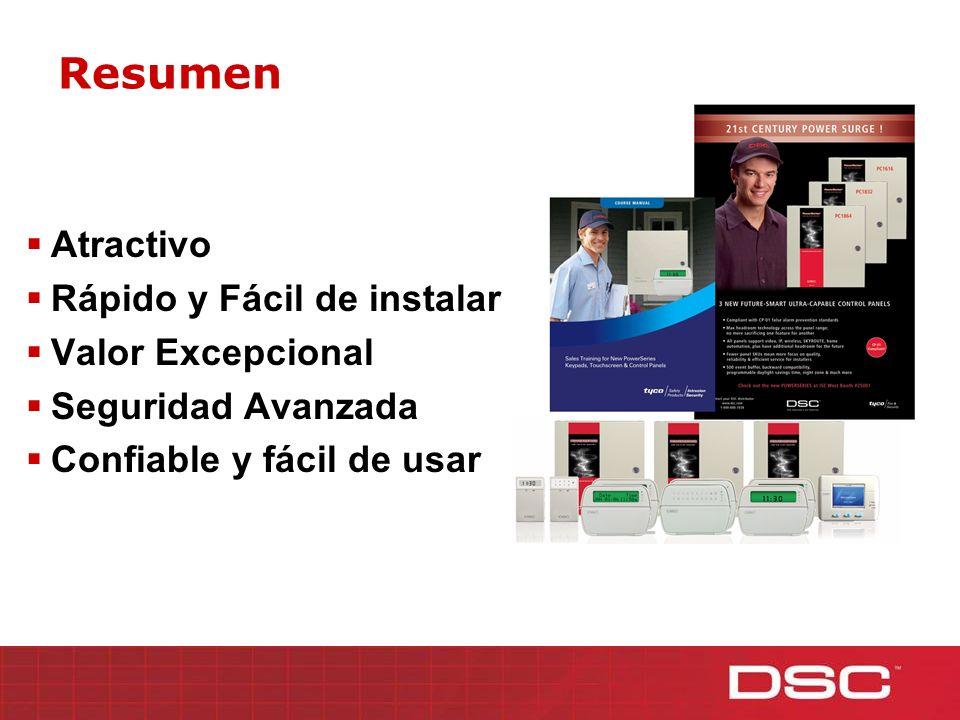 Resumen Atractivo Rápido y Fácil de instalar Valor Excepcional Seguridad Avanzada Confiable y fácil de usar