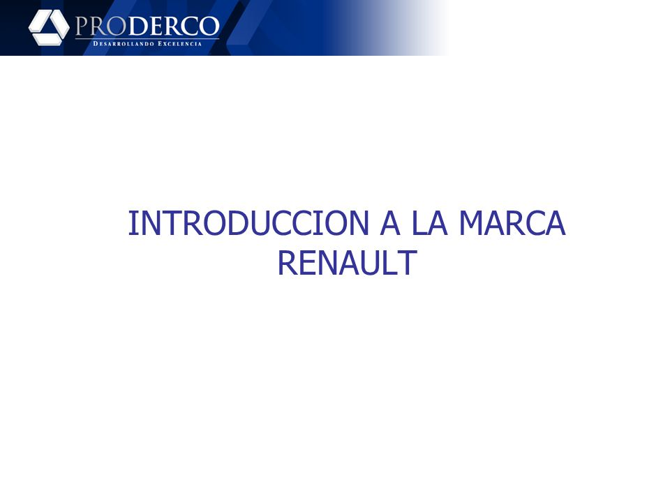 INTRODUCCION A LA MARCA RENAULT