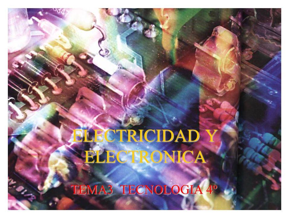 ELECTRICIDAD Y ELECTRONICA TEMA3 TECNOLOGIA 4º