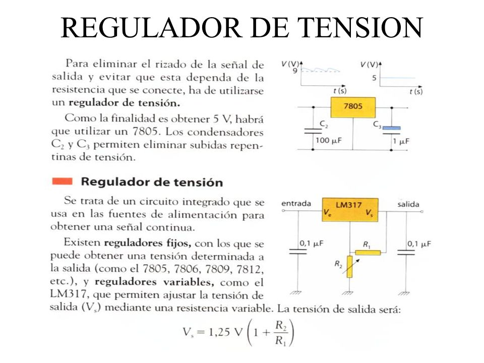 REGULADOR DE TENSION