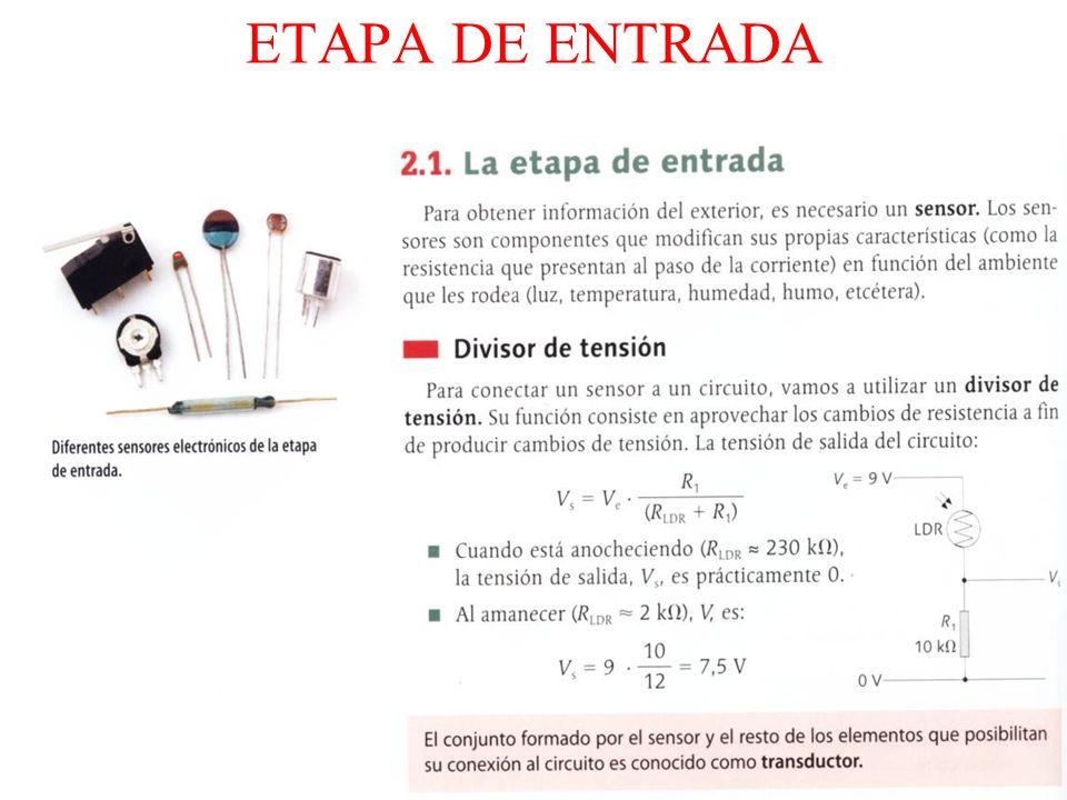 ETAPA DE ENTRADA