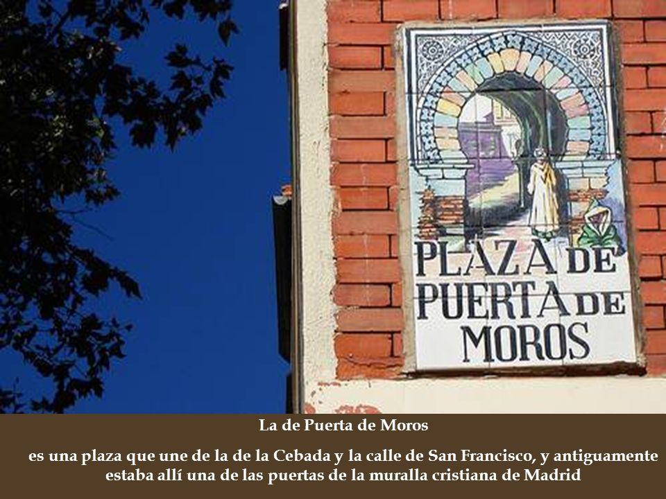 Plaza de San Andrés, de paso obligado. En dicha plaza se encentra la capilla de San Isidro, el museo de San Isidro y la parroquia de San Andrés. Es bo