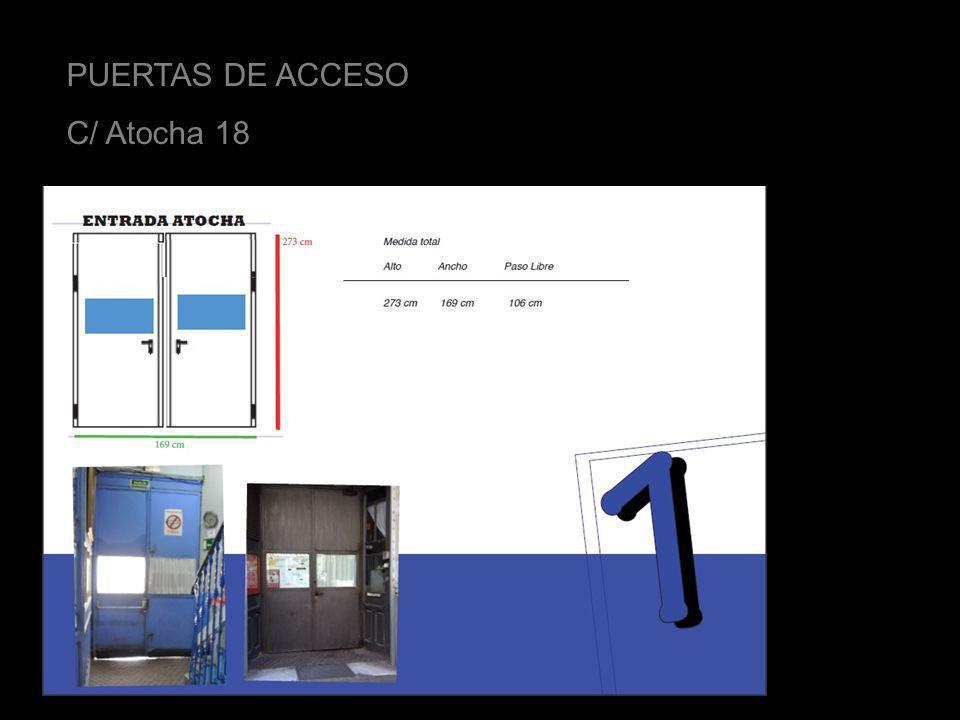 PUERTAS DE ACCESO C/ Atocha 18