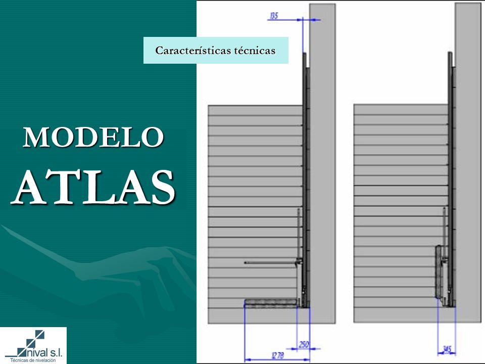 MODELO ATLAS Características técnicas Características técnicas