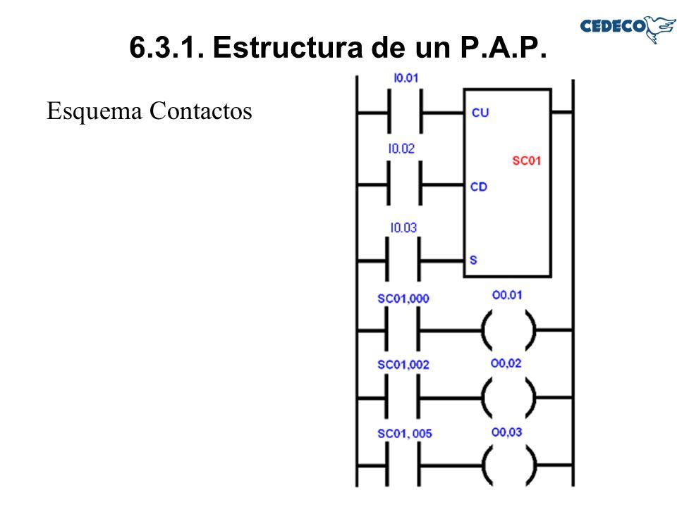 6.3.1. Estructura de un P.A.P. Esquema Contactos