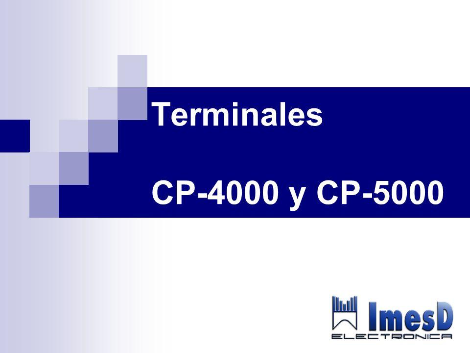 ÍNDICE Características CP-4000 y CP-5000 Vista detallada de las terminales Funcionalidades Introducción de una incidencia.