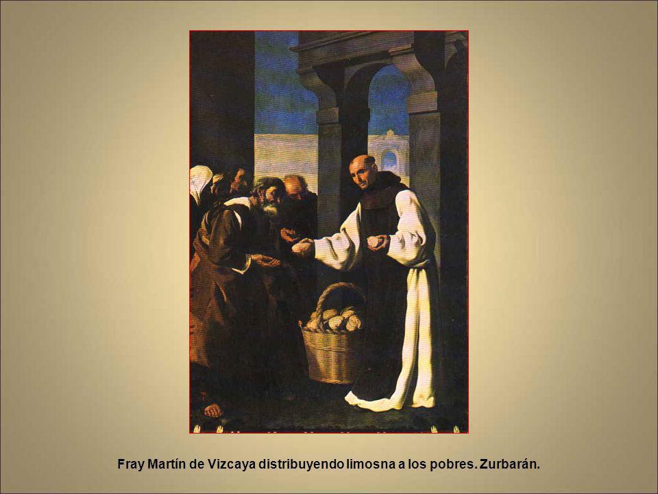 Enrique III de Castilla ofreciendo a fray Fernando Yáñez el Arzobispado de Toledo. Lienzo de Zurbarán que se autorretrató en segundo plano. Detalle