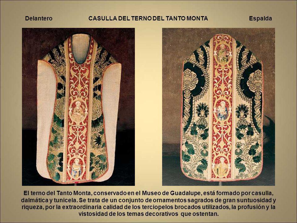 Entre las piezas más hermosas de este singular museo cabe destacar: El Frontal Rico, del siglo XV bordado por fray Diego de Toledo. El Frontal de la P