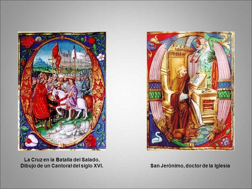 Miniaturas de los cantorales con imágenes de la batalla del Salado. Siglo XVI.