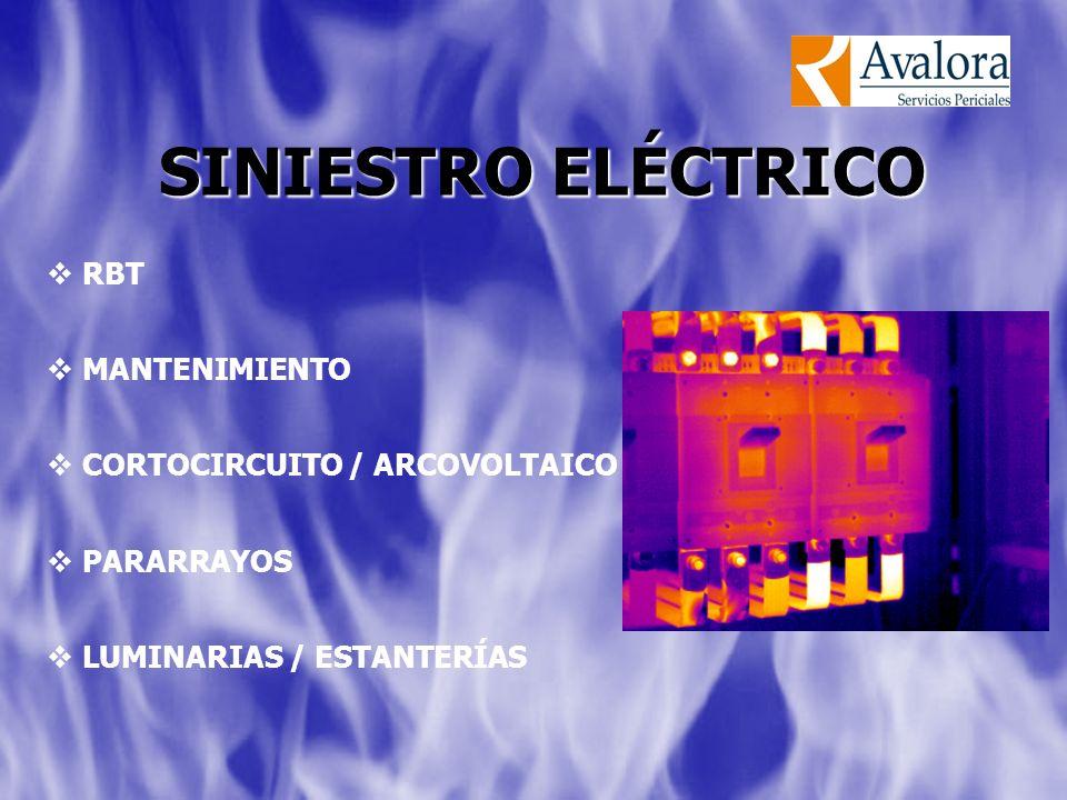 RBT MANTENIMIENTO CORTOCIRCUITO / ARCOVOLTAICO PARARRAYOS LUMINARIAS / ESTANTERÍAS SINIESTRO ELÉCTRICO