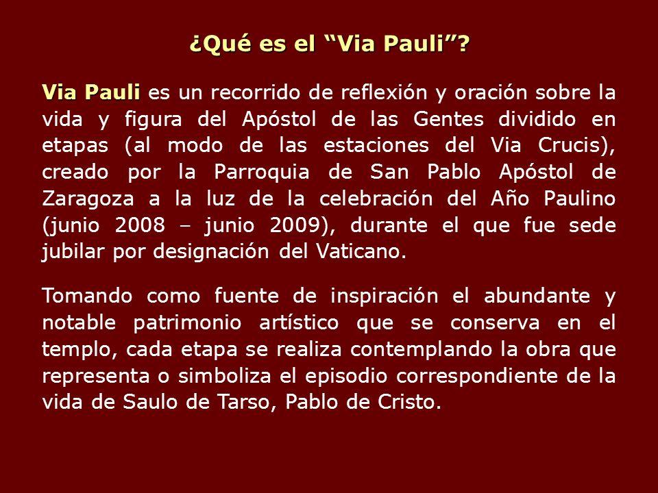 ¿Qué es el Via Pauli? Via Pauli Via Pauli es un recorrido de reflexión y oración sobre la vida y figura del Apóstol de las Gentes dividido en etapas (