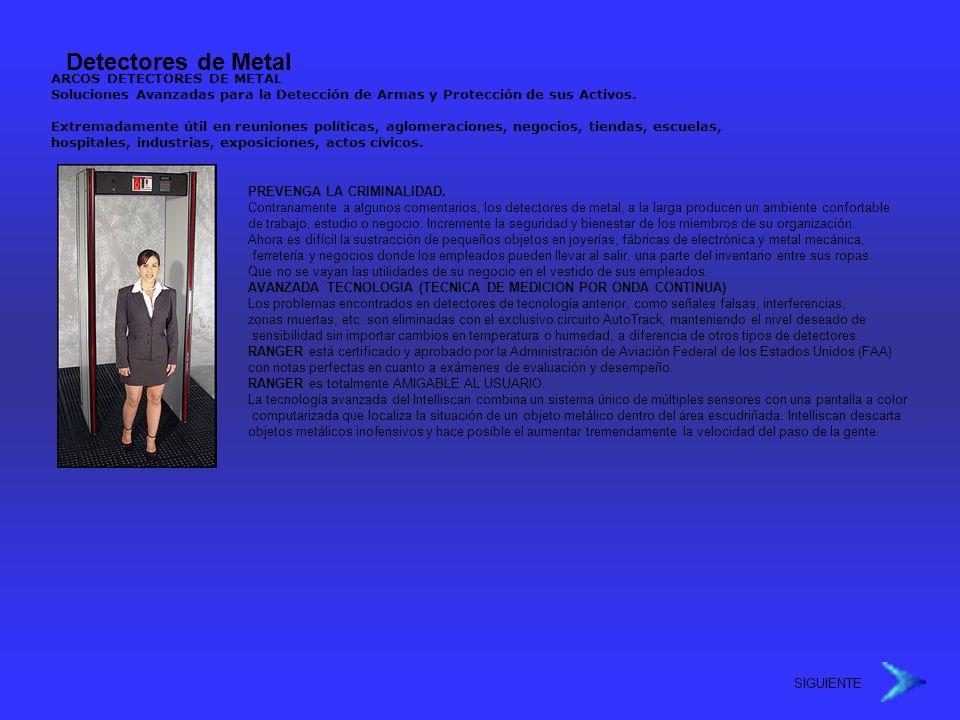 Detectores de Metal ARCOS DETECTORES DE METAL Soluciones Avanzadas para la Detección de Armas y Protección de sus Activos. Extremadamente útil en reun