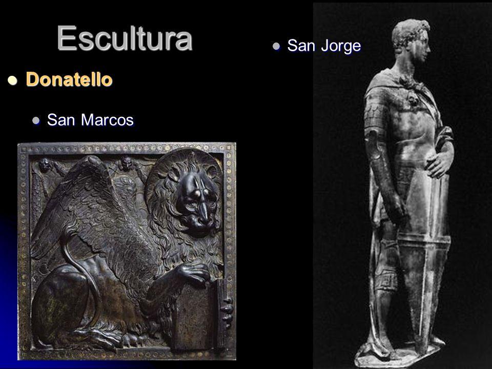 Escultura Donatello Donatello San Marcos San Marcos San Jorge San Jorge