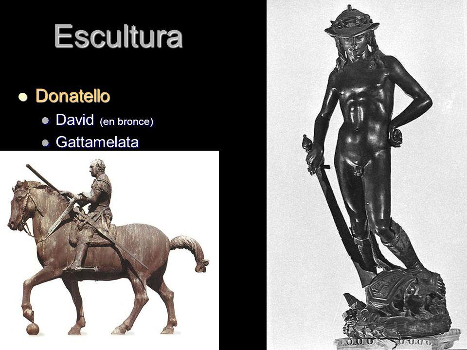 Escultura Donatello Donatello David (en bronce) David (en bronce) Gattamelata Gattamelata