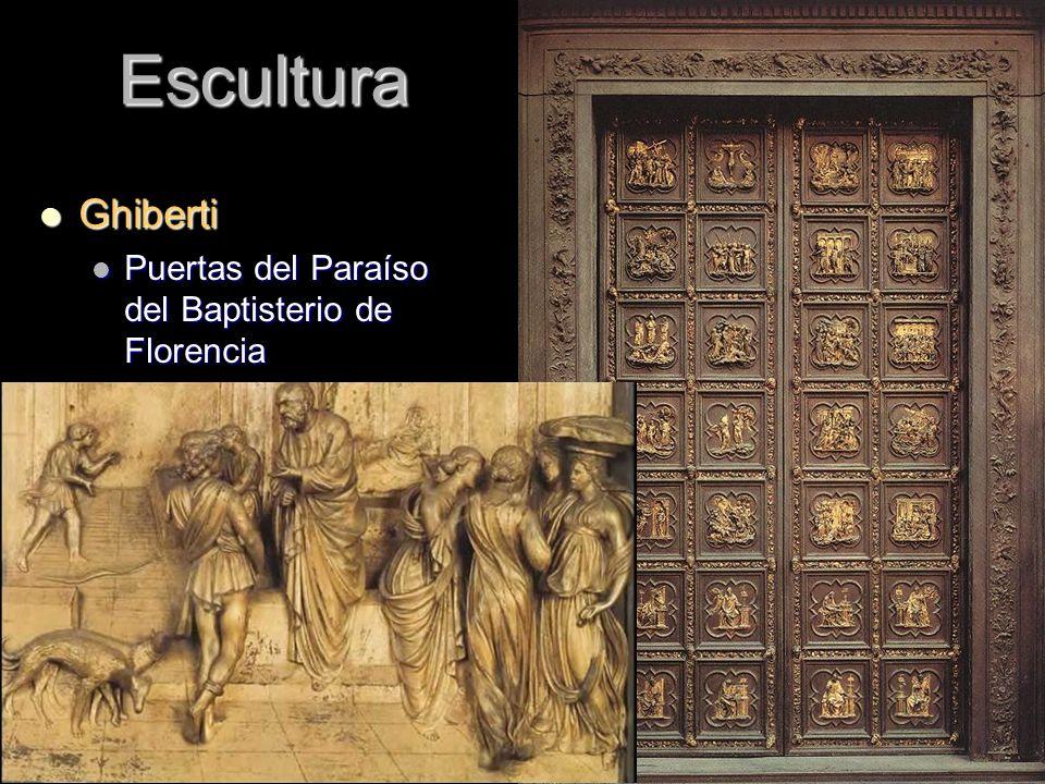 Escultura Ghiberti Ghiberti Puertas del Paraíso del Baptisterio de Florencia Puertas del Paraíso del Baptisterio de Florencia