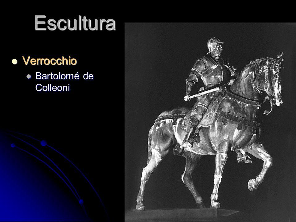 Escultura Verrocchio Verrocchio Bartolomé de Colleoni Bartolomé de Colleoni