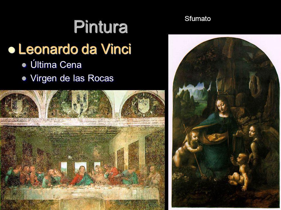 Pintura Leonardo da Vinci Leonardo da Vinci Última Cena Última Cena Virgen de las Rocas Virgen de las Rocas Sfumato
