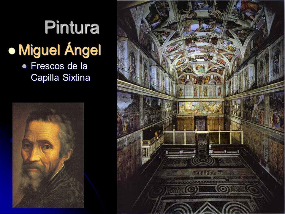 Pintura Miguel Ángel Miguel Ángel Frescos de la Capilla Sixtina Frescos de la Capilla Sixtina