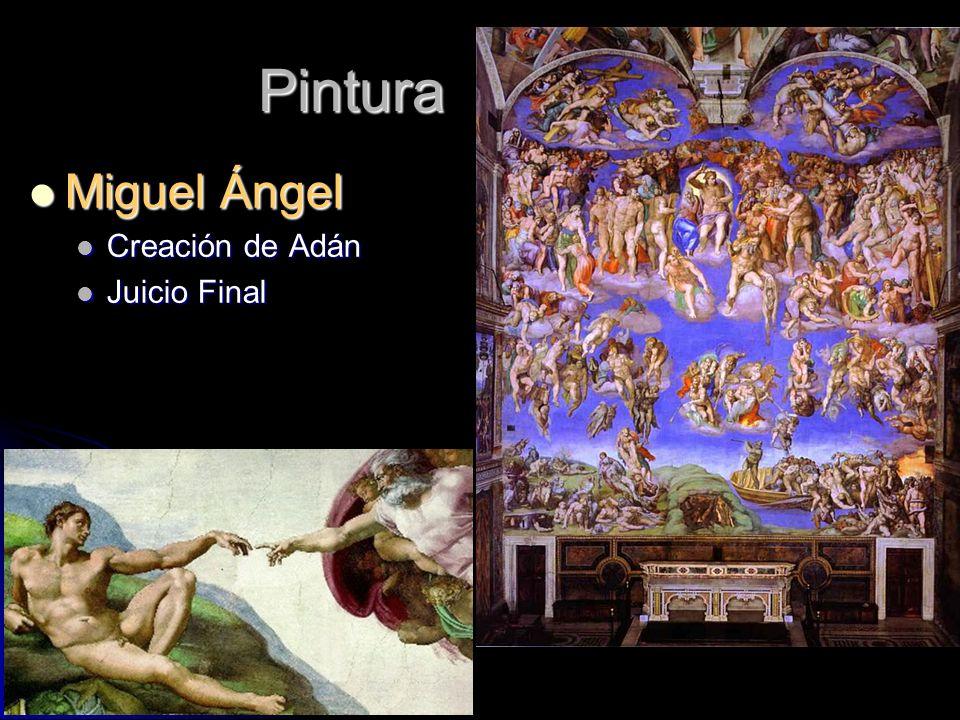 Pintura Miguel Ángel Miguel Ángel Creación de Adán Creación de Adán Juicio Final Juicio Final