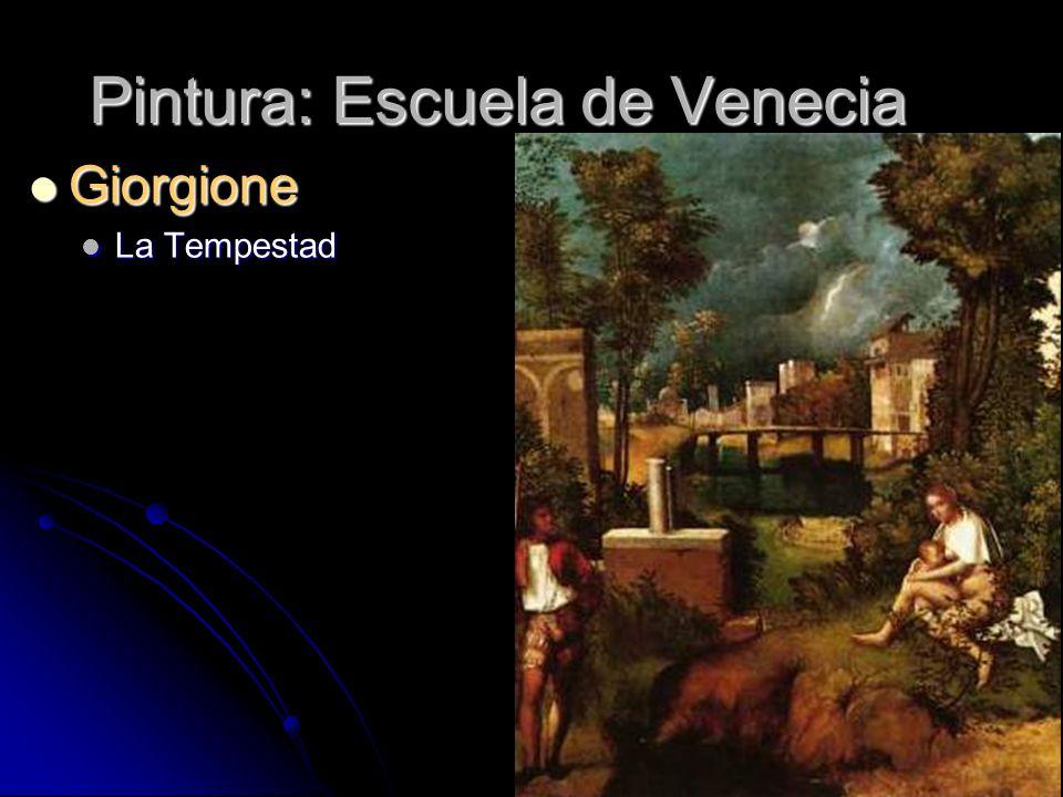 Pintura: Escuela de Venecia Giorgione Giorgione La Tempestad La Tempestad