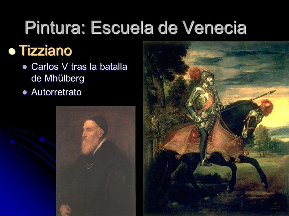 Pintura: Escuela de Venecia Tizziano Tizziano Carlos V tras la batalla de Mhülberg Carlos V tras la batalla de Mhülberg Autorretrato Autorretrato