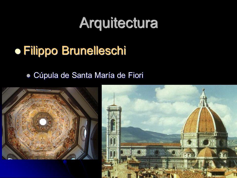 Arquitectura Filippo Brunelleschi Filippo Brunelleschi Cúpula de Santa María de Fiori Cúpula de Santa María de Fiori