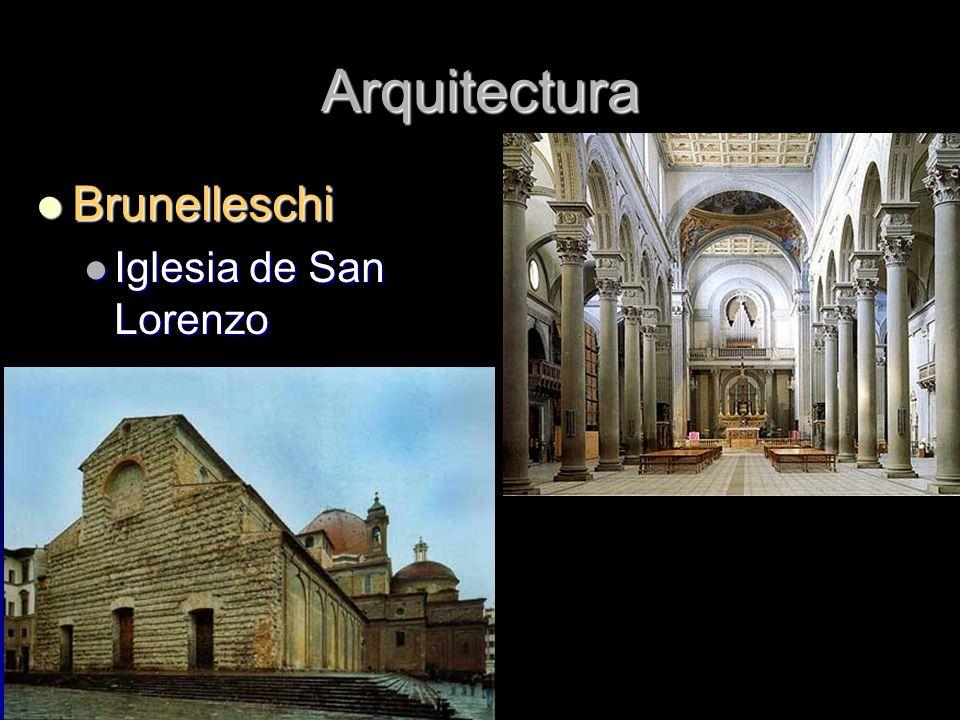 Arquitectura Brunelleschi Brunelleschi Iglesia de San Lorenzo Iglesia de San Lorenzo