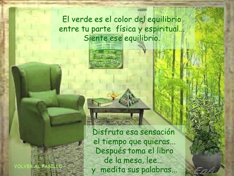 Déjate envolver enteramente por una suave luz verde. Respira el saludable aire fresco de los verdes campos... Experimenta cómo te relajas... Siente el