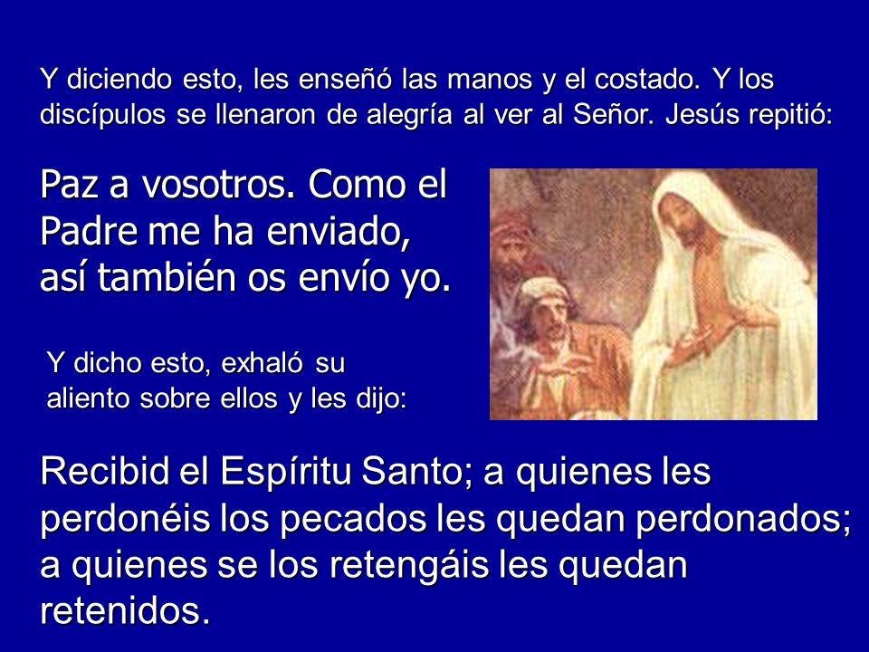 Tomás, uno de los Doce, llamado el Mellizo, no estaba con ellos cuando vino Jesús.