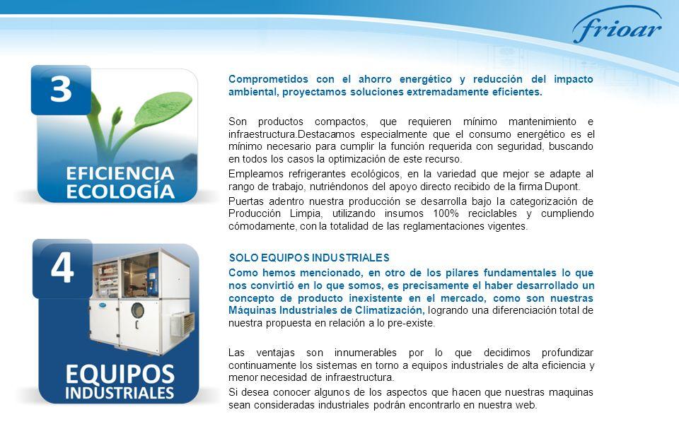 Comprometidos con el ahorro energético y reducción del impacto ambiental, proyectamos soluciones extremadamente eficientes. Son productos compactos, q