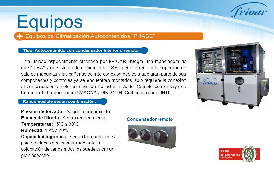 Equipos Esta unidad especialmente diseñada por FRIOAR, integra una manejadora de aire