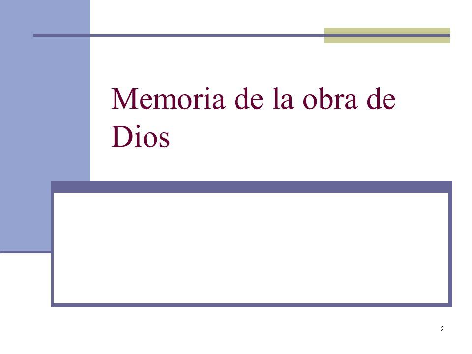 2 Memoria de la obra de Dios