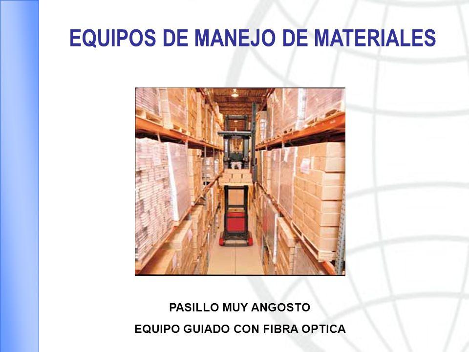EQUIPOS DE MANEJO DE MATERIALES PASILLO MUY ANGOSTO EQUIPO GUIADO CON FIBRA OPTICA